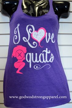 I love squats tank. #apparel #squats #crossfit #fitnessclothes