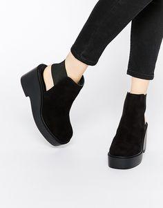 Image 1 ofASOS ELVA Open Back Ankle Boots