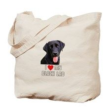 I Love My Black Lab Tote Bag for