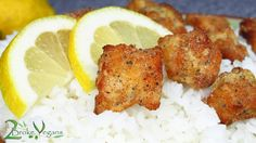 Lemon Fried Tofu Chicken Recipe Gluten-Free Vegan: http://2brokevegans.com/lemon-fried-tofu-chicken-vegan-gluten-free/