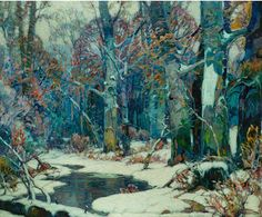 """John Fabian Carlson (USA 1874–1945) Forest Pool oil on canvas 48⅞ x 58¾ in. """