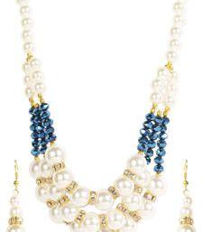 Buy Facinating 3 Line Pearl Necklace Set Online
