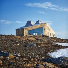 Remote mountain site in Norway's Okstindan range hosts hikers' cabin by Jarmund/Vigsnæs Arkitekter