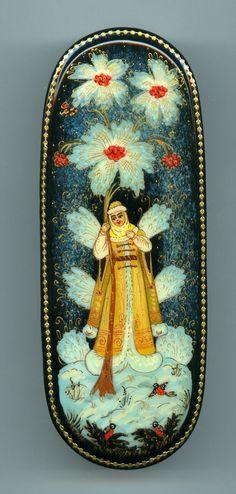 "Russian Lacquer Box Kholui "" Snow Maiden"" Hand Painted | eBay"