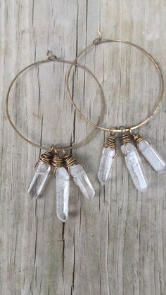 Quartz Crystal Point Earrings