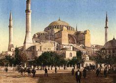 ΒΥΖΑΝΤΙΝΩΝ ΙΣΤΟΡΙΚΑ: Παλιές φωτογραφίες από την Αγία Σοφία Κωνσταντινου...