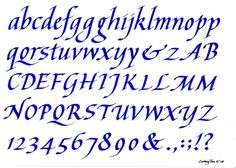Learn Calligraphy | Italic Alphabet