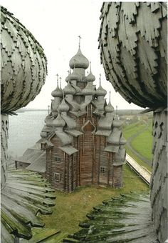 The Church of the Transfiguration - Kizhi Pogost, Lake Onega in the Republic of Karelia - Russia . The Church of the Transfiguration - Kizhi Pogost, Lake Onega in the Republic of Karelia - Russia Architecture Design, Wooden Architecture, Russian Architecture, Church Architecture, Beautiful Architecture, Beautiful Buildings, Beautiful Places, Architecture Religieuse, The Transfiguration
