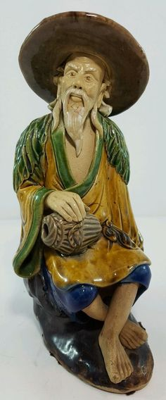 Vintage Chinese Mudman Figurine Backwards N Mudmen Mud Man Mud Men in Antiques, Asian Antiques, China | eBay