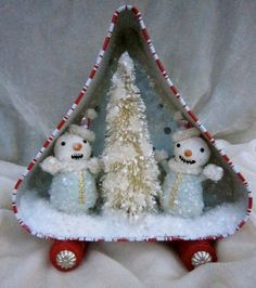 Spun Cotton Vignette The Snowmobile by MariePattersonStudio