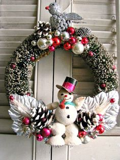 vintage style wreath
