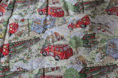 Toytown Childs Single Bed Double Sided Duvet Set Cover 1970s by AtticBazaar on Etsy