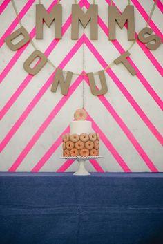 DONUT CAKE!  cool!