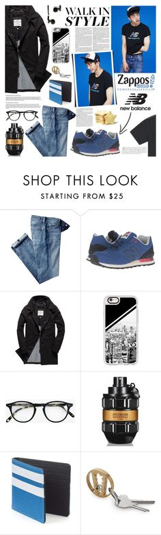 """""""Run the World in New Balance Men"""" by kumi-chan ❤ liked on Polyvore featuring 7 For All Mankind, New Balance Classics, Superdry, Casetify, Garrett Leight, Viktor & Rolf, Urban Pipeline, Master & Dynamic, men's fashion and menswear"""