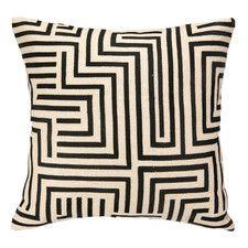 Elgin Embroidered Linen Throw Pillow