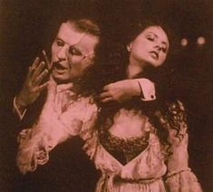 """""""Touch me! Trust me! Savor each sensation!"""" (This still is so passionate. Grips my heart.) ~ ALW's The Phantom of the Opera (1986-1991), starring Michael Crawford and Sarah Brightman"""