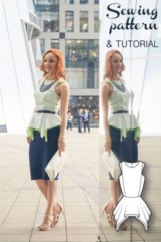 Layered Peplum Top Sewing Pattern and Sewing Tutorial