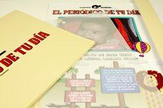 """Primera Plana Niños, modelo """"Sabana"""", con carpeta. Los protagonistas se emocionarán al recibir El Periódico de Tu Día. Un regalo original que gustará a todos. Podéis buscar regalos de cumpleaños, regalos de aniversarios, regalos de bodas, regalos de bodas de oro, regalos de bodas de plata, regalos de bautizos, regalos de comuniones y mucho más en El Periódico de Tu Día. Entra ya en: www.elperiodicodetudia.com. ;)"""