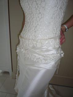 Robe de mariage Cymbeline NEUVE en soie blanc cassé