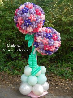 Balloon Hydrangea Columns made by Patricia Balloona. Imagine having this beautiful flower in your garden. Quite the attraction! Love Balloon, Balloon Flowers, Balloon Bouquet, Balloon Centerpieces, Balloon Decorations, Balloon Ideas, Balloon Columns, Balloon Arch, Balloon Crafts