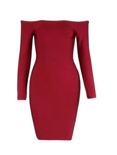 Norma Red Bandage Dress