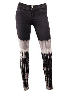 Current Elliot Black Tie Die Jeans
