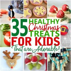 Healthy Christmas treats for kids – Cute Healthy Christmas snacks for kids holiday parties, winter parties, and lunch box surprises. Get the easy recipes today! Christmas Party Snacks, Healthy Christmas Treats, School Christmas Party, Halloween Snacks For Kids, Halloween Treats For Kids, Christmas Breakfast, Holiday Treats, Christmas Appetizers, Holiday Foods