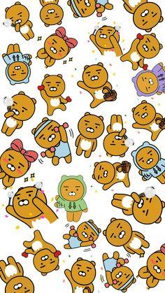 my spirit animal💛 Lines Wallpaper, Bear Wallpaper, Tumblr Wallpaper, Iphone Wallpaper, Line Friends, Real Friends, Kpop Drawings, Cute Drawings, Cute Lockscreens