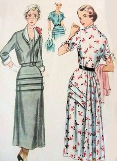 1950s LOVELY Dress and Bolero Pattern SIMPLICITY 3178 Interesting Tuck  Details 90e659757