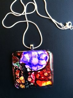 Abstract Purple Tree Pendant Art Necklace by DomeLifeStudios, $18.00