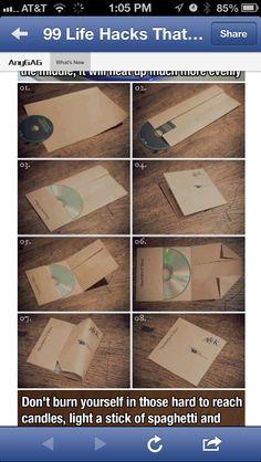Folding cd covers