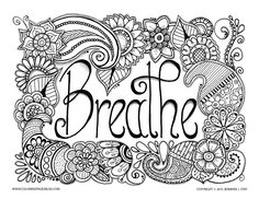 "Download more free coloring pages by Jennifer Stay. Link the words ""free coloring pages"" to http://www.coloringpagesbliss.com/free-coloring-pages/, From the gallery : Zen & Anti Stress"
