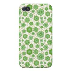 SOLD! - Cool oriental floral green flower ornament pattern Case Savvy iPhone 4 Matte Finish Case #oriental #flower #floral #kimono #pattern #sakura #Japan #japanese #matte #case #cover #apple #iphone4 #iphone #smartphone #gift #girly