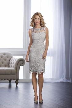 b6cd59affa Christina Wu Elegance Knee Length Jeweled Lace Sheath Dress 17858 - 1 pc  Navy In Size 6 Available