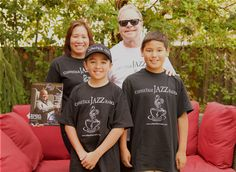 Guitarist and Songwriter James Heidinger and his beautiful wife Elizabeth Lee and their two boys ROCKING and REPRESENTING the CoffeeTalk JAZZ Radio and Magazine brand. Check-out R. James music review page 52 in the current issue of CoffeeTalk JAZZ Magazine Summer 2016 issue, It's A Family Affair. www.CoffeeTalkJazzRadio.com