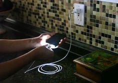 CordLite: een oplader voor de iPhone en iPad met ingebouwde LED-verlichting. ˆBB