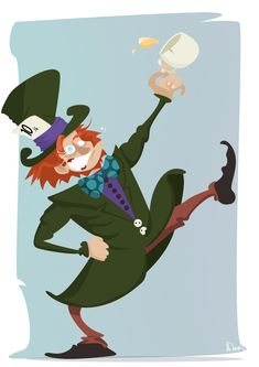 """Mad Hatter"" by Dank #art #illustration #character #madhatter #wonderland"