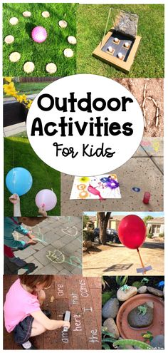 Looking for some new outdoor activities for kids? This collection of over 60 activities will keep kids busy and having fun! #outdooractivitiesforkids #outdooractivities Outdoor Activities For Kids, Outdoor Learning, Spring Activities, Engage In Learning, Social Emotional Learning, Fun Learning, Educational Toys For Kids, Educational Activities, Learning Activities