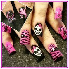 Hollo Best Nail Art Designs, Simple Nail Art Designs, Halloween Nails, Nail Art Hacks, Cool Nail Art, Art Tips, Nailart, Fun Nails, Awesome