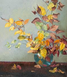 Marcus Jacobi Autumn Branches in a Vase 1966