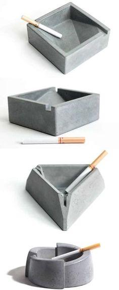 Concrete Cigar Cigarette Ashtray
