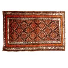 (11DA) A Persian Floor Rug n\A Persian Floor Rug Red ground with central hexagonal motifs. 3200 x 2000mm Decorative Arts… / MAD on Collections - Browse and find over 10,000 categories of collectables from around the world - antiques, stamps, coins, memorabilia, art, bottles, jewellery, furniture, medals, toys and more at madoncollections.com. Free to view - Free to Register - Visit today. #Rugs #Carpets #Textiles #MADonCollections #MADonC