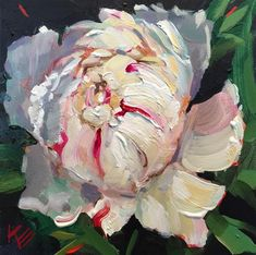 An Original Fine Art Gallery by Daily Paintworks Art Floral, Acrylic Flowers, Writing Art, Oil Painting Flowers, Fine Art Auctions, White Peonies, Beautiful Paintings, Flower Art, Amazing Art
