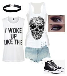 """Untitled #5"" by heartbeat-13-06 ❤ liked on Polyvore featuring T By Alexander Wang, Private Party, Converse and Miss Selfridge"