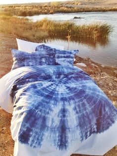 Blue Bohemian Bedding Twin/XL Twin Full/Queen/King by embeddedUSA