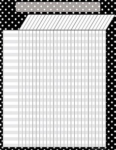 Black Polka Dots Incentive Chart - Convenient, useful learning tools that decorate as they educate! Each chart measures by Related lessons and activities are provided on the back of every chart. Attendance Sheet Template, Attendance Chart, Attendance Register, Incentive Charts, Circus Theme Classroom, Polka Dot Classroom, Classroom Ideas, Polka Dot Theme, Blue Polka Dots