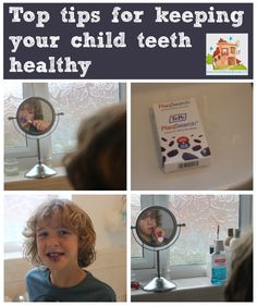 Top tips on how to keep your child's teeth healthy and how to encourage them to clean their teeth well from Mum in the mad house