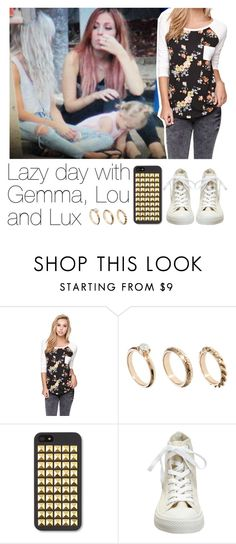 """""""Lazy day with Gemma, Lou and Lux"""" by pigeon15 ❤ liked on Polyvore featuring Nollie, ASOS and Converse"""
