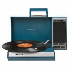 This retro-inspired turntable serves as a USB compatible record player and boasts up-to-the-minute technology. Shop Speakers & Headphones on AHAlife. Cool Stuff, Lps, Radios, Usb Turntable, Portable Record Player, Moonrise Kingdom, Record Players, Alter, Childhood Memories