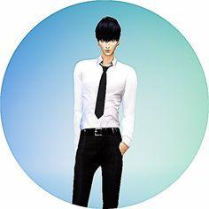 Male necktie tight version at Marigold • Sims 4 Updates